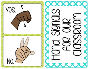 Hand Signals for the Classroom
