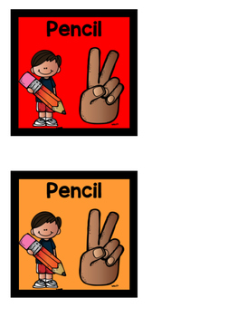 Hand Signals in Primary Colors Featuring Mealonheadz!