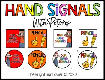 Hand Signals with pictures