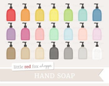Hand Soap Clipart; Bathroom, Cleaning Supplies