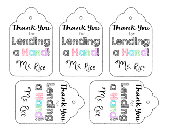 Hand Soap Labels- EOY gift
