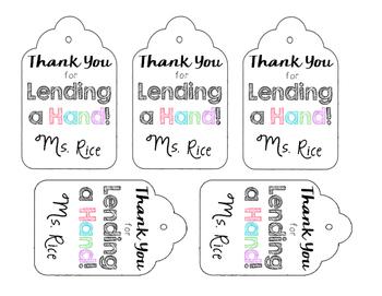 Hand Soap Labels- EOY gift