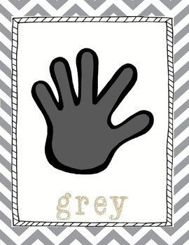Hand Themed Chevron Color Posters