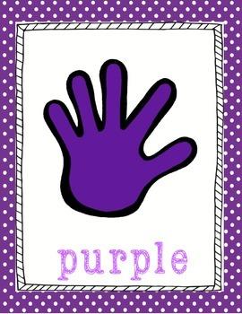 Hand Themed Polka Dot Color Posters