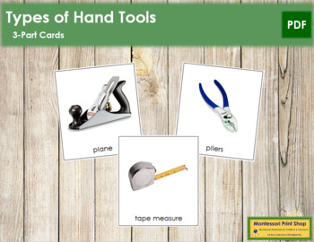 Hand Tools: 3-Part Cards