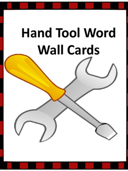 Hand Tools Word Wall with Pictures