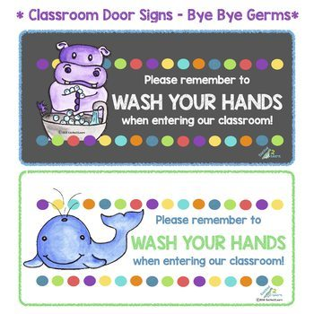 Handwashing Chart - Bye Bye Germs! (Washing Hands - A Poster for Proper Hygiene)