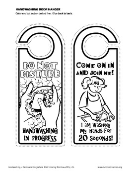 Hand Washing Door Hanger