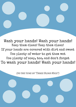 Hand-Washing Poster (Includes Song)