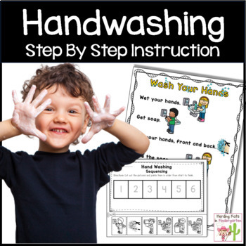 Hand Washing Procedures Reader, Poster and Sequencing Pocket Chart