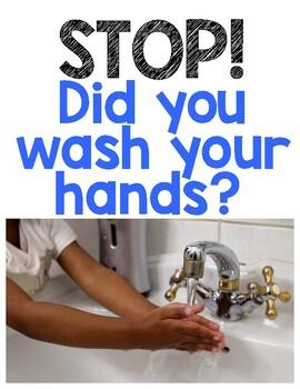 Hand Washing Reminder Sign