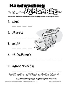 Hand Washing Scramble