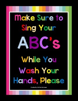 Hand Washing Sign- Help Your Students Remember to Wash Their Hands Correctly
