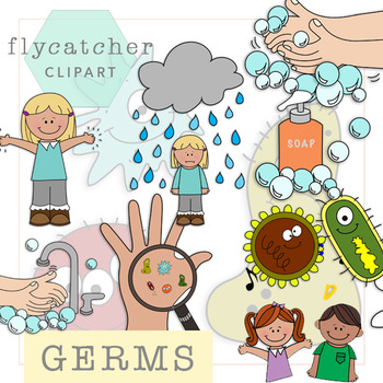 hand washing and germs clipart by flycatcher clipart tpt rh teacherspayteachers com no germs clipart animated germs clipart