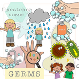 Hand Washing and Germs Clipart