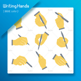 Hand Writing Clip arts ( Hand Holding Pen )