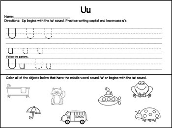 Handwriting Letters and Beginning Sounds