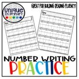 Hand Writing Practice: Number Writing