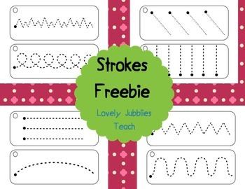 Hand Writing Strokes Freebie