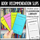 Hand-Written Book Recommendations - Classroom Library