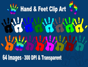 Hand and Feet Clip Art