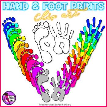 Hand and Foot Prints clip art