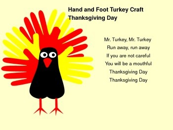 Hand and Foot Turkey Craft