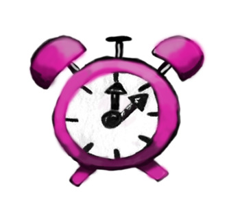 Hand-drawn Alarm Clock Clip Art