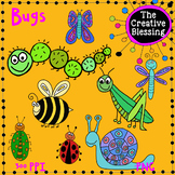16 Hand drawn Bug Clipart for Commercial and Personal Use