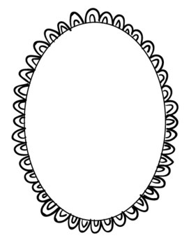 Hand Drawn Clip Art Oval Borders Set