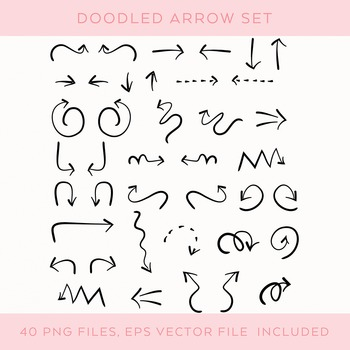 Hand-drawn Doodle Arrow Set