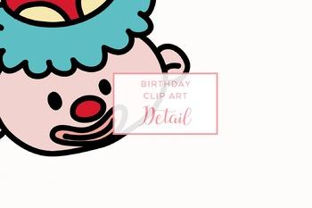 Hand-drawn Doodle Birthday Clip Art Set
