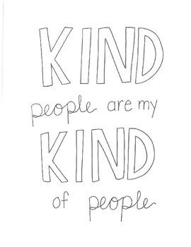 Hand-drawn Kindness Quotes