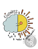 "Hand-drawn ""Kindness makes a difference"" Inspirational Cla"