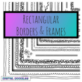 Hand-drawn Rectangular Frames and Borders