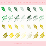 Hand-drawn Spring Leaves Clip Art