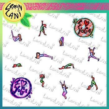 Hand-drawn Yoga Clipart