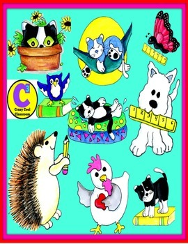 Hand-drawn animal clip art
