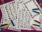 Hand drawn decorative A4 Border - Set of Fifteen