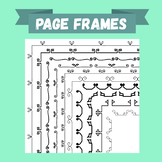 Hand-drawn doodle page frames (borders) - Curly bars