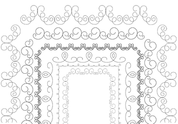 Hand-drawn doodle page frames (borders) - Swirls edition
