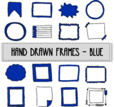 Hand drawn frames - Blue