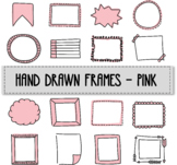 Hand drawn frames - pink