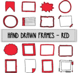 Hand drawn frames - red