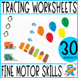 10 tracing worksheets. For PreK, K and Sped. Fine Motor Skills Practice.