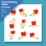 Hand holding apple clip arts