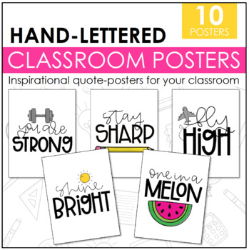 Hand-lettered Classroom Posters