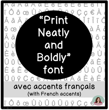 Hand-lettered Printing Fonts with French Accents - Police de caractères