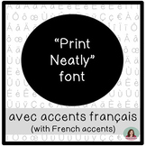 Hand-lettered Printing Fonts with French Accents - Police