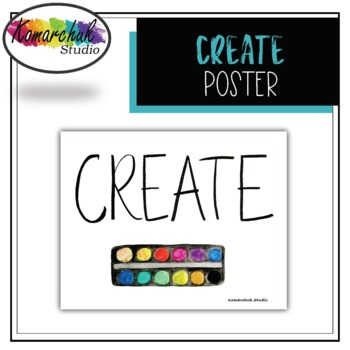"""Hand-painted """"Create"""" Poster"""